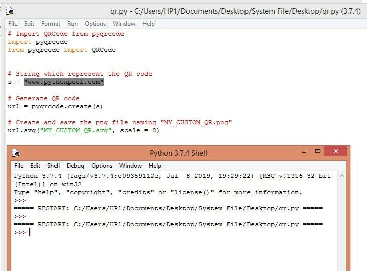 QR code using Python