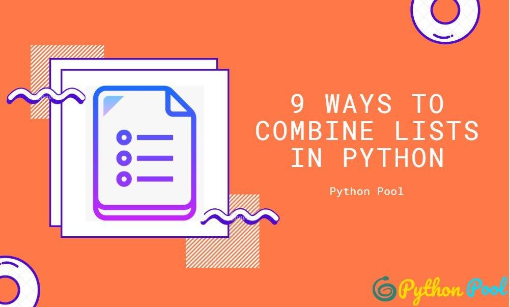 python combine lists