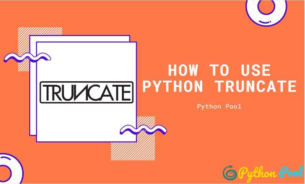 python truncate