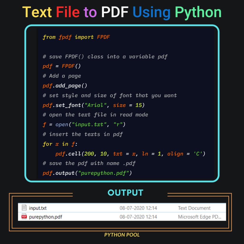 Python Text to PDF