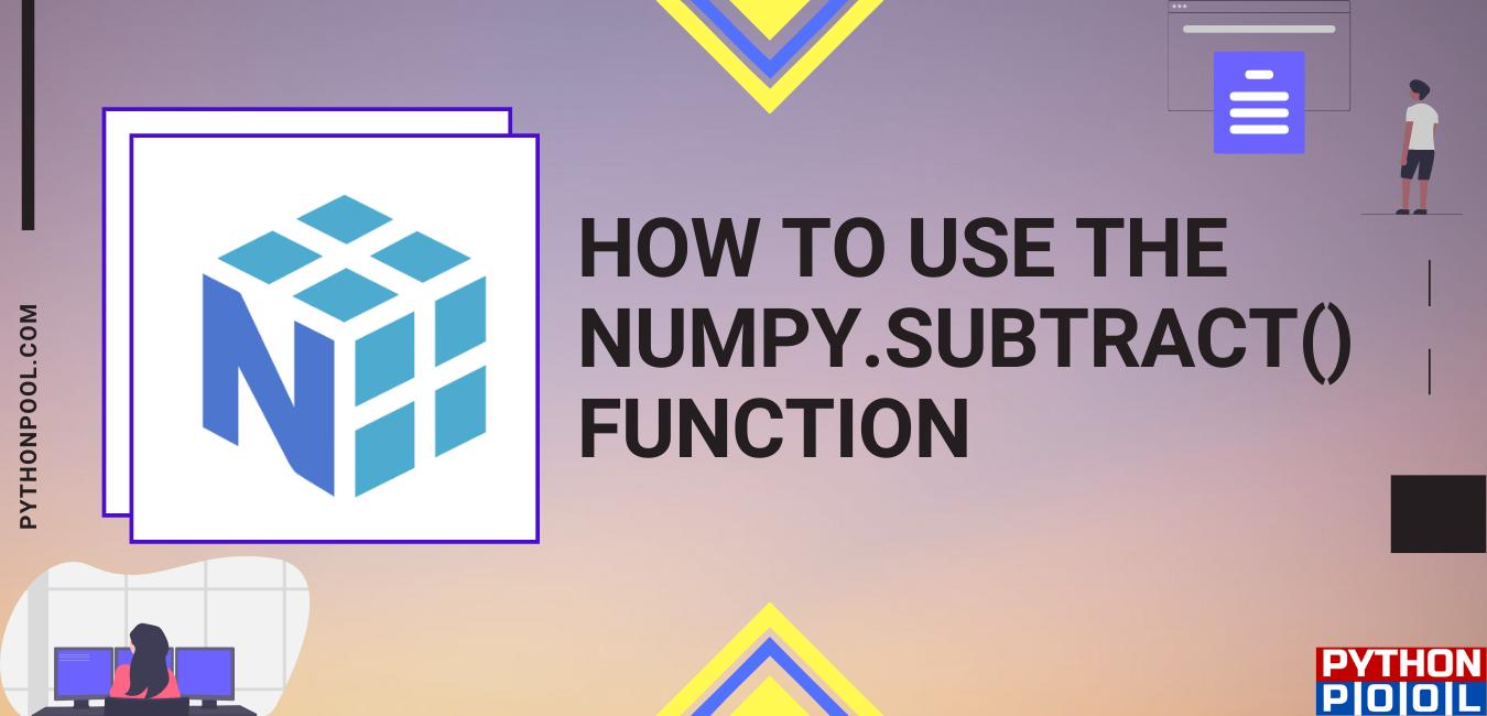 numpy subtract