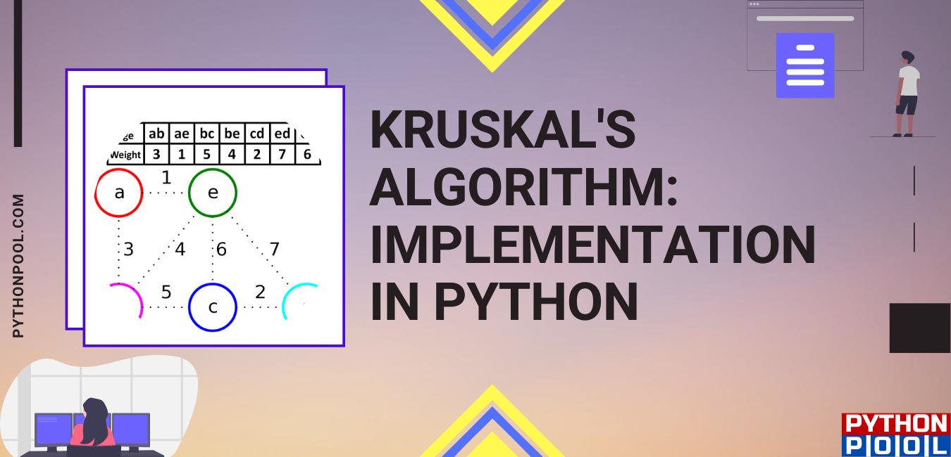 kruskal's algorithm python