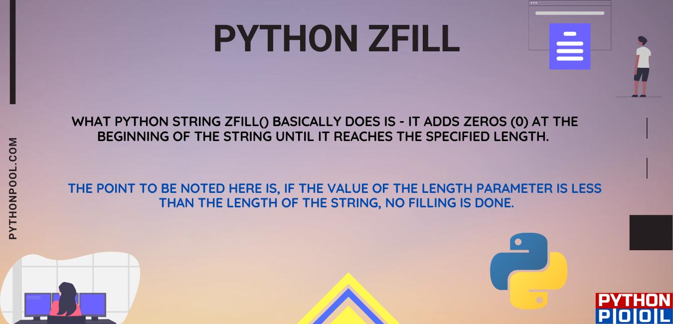 Python zfill