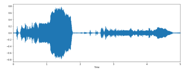 Let Us Visualize The Waveform Of The Loaded Audio: