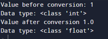 float() Function to convert int to float in Python
