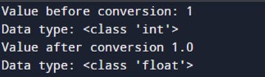 Alternative for implicit conversion of int to float: