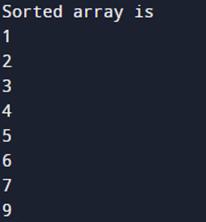 Output of bitonic sort