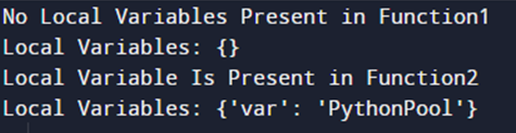 Example 1: To Check If Variable Exists Locally