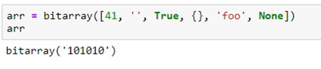 Miscellaneous Python Bitarray