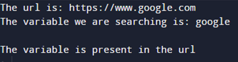 python check if variable exists in URL