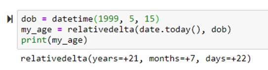 Get difference between two dates in python