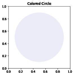 Matplotlib transparent circle