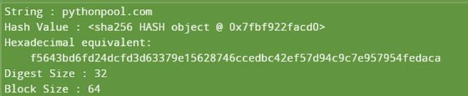 Implementation of Python sha256 output