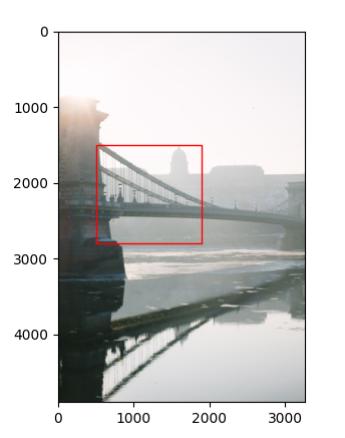 Plotting a Matplotlib Rectangle on an Image