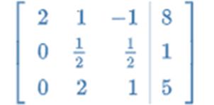 augmented matrix gaussian elimination python
