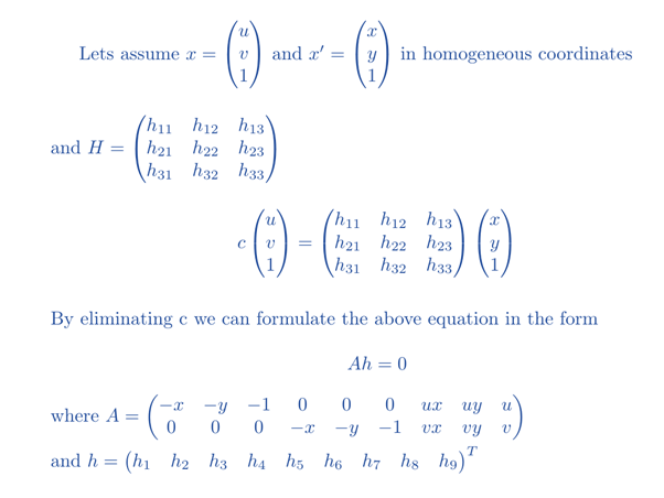 How to calculate a Homography?