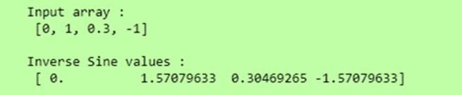 Python np sin inverse