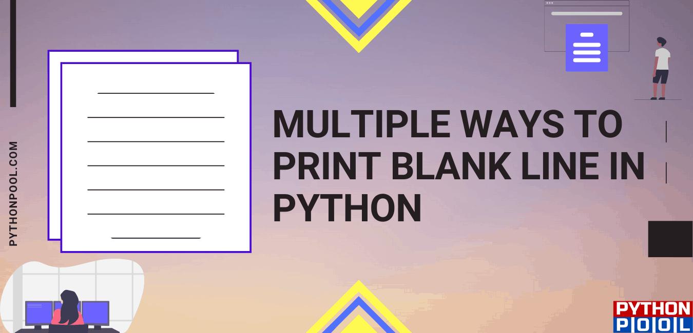 python print blank line
