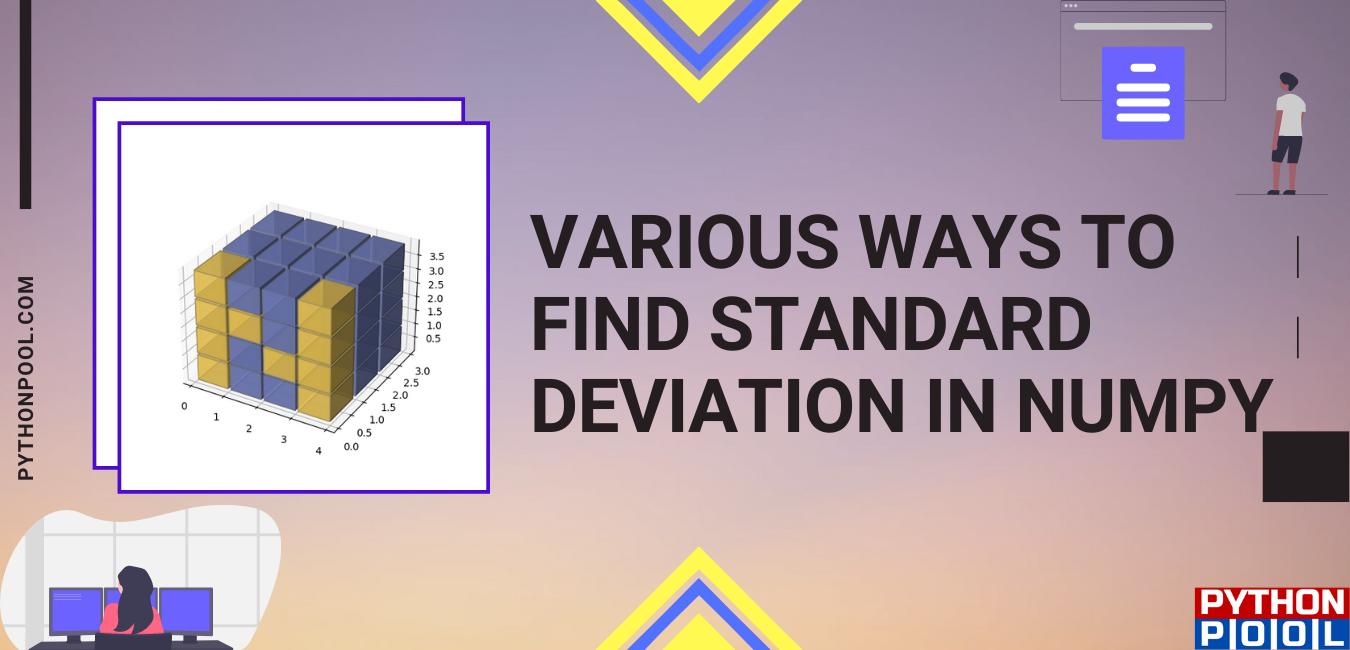 numpy standard deviation