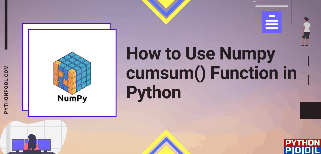 Numpy cumsum