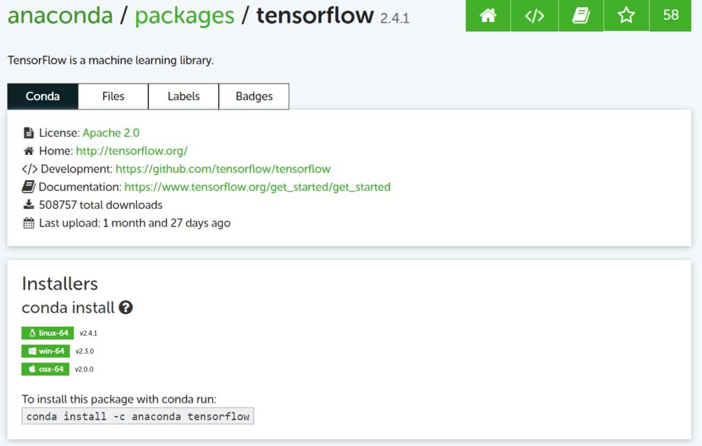 No Module Named Tensorflow in Anaconda