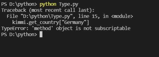 [Solved] TypeError: 'method' Object is not ubscriptable