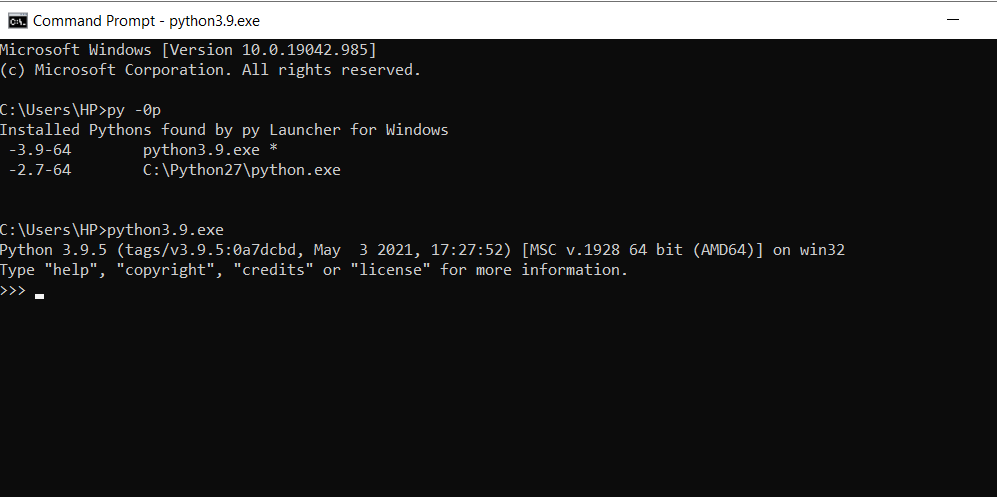 default path python