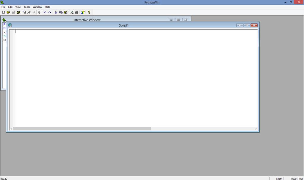 pythonwin creating script