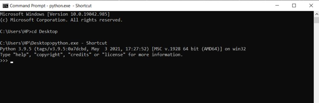 python 2.7 default path