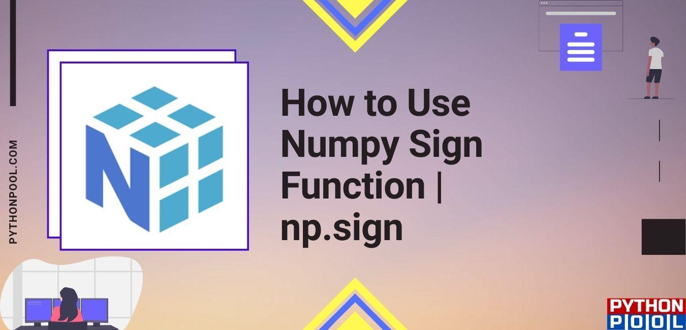 np.sign