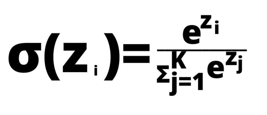 softmax function formula