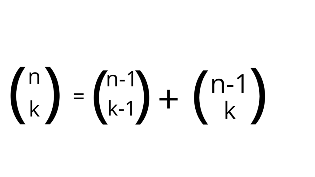 formula for pascals triangle
