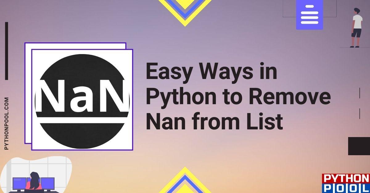 python remove nan from list