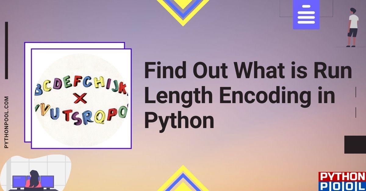 run length encoding python