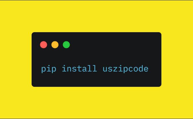 Install Uszipcode Python