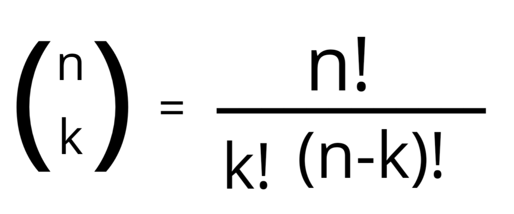 formula for the binomial coefficient