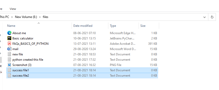Using touch module to create a multiple files