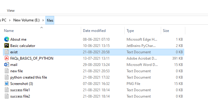 Create a file if not exists