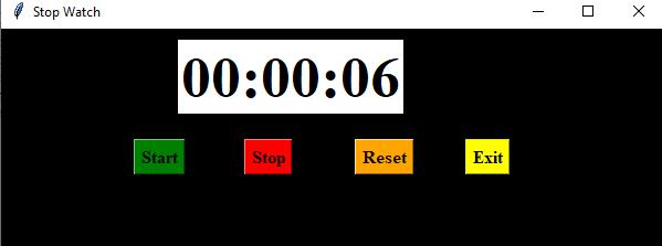 stopwatch in python