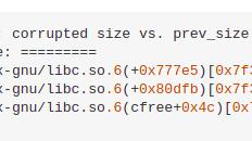Corrupted size vs. prev_size Error in Python