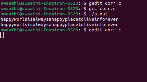 fix Corrupted size vs. prev_size realloc output